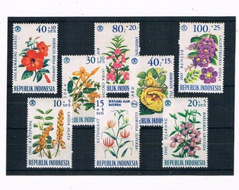 Flower Stamps from Indonesia - part set 1965, 1966