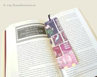 Heather Haze - Aluminium Bookmark with Postage Stamp Print