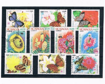 Bees, Butterflies, Insects - Postage Stamp part sets Montserrat 1992 & Romania 1987