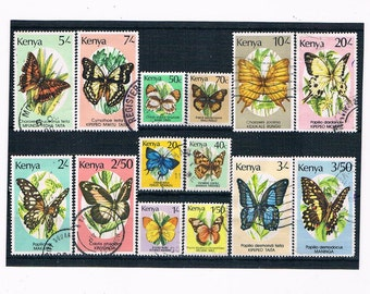 Butterfly Postage Stamps - part set Kenya 1980s