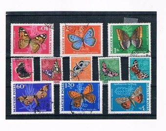 Butterflies & Moths on Postage Stamps - Part Sets from Hungary 1969 + Switzerland 1950s
