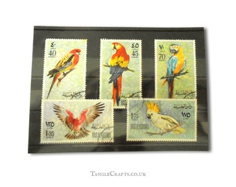 Parrots postage stamp part set - Ras-al-Khaima 1972