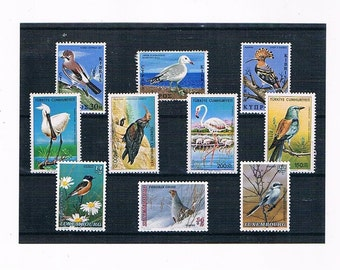 Mixed Bird Stamp Selection - Cyprus, Turkey, Luxembourg