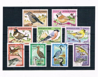Songbirds, Garden Birds, Waders on Stamps - Benin, 1997 & Sahara, 1994