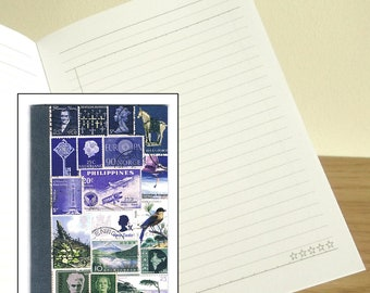 Misty Landscape - Printed Postage Stamp Notebook, A6