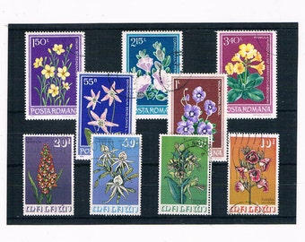 1975 Malawi Orchid Postage Stamp Set + Romania Wildflower part set, 1979