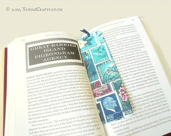 Ocean Deep - Aluminium Bookmark with Postage Stamp Print