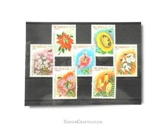 Bee-Pollinated Flowers - Postage Stamps Set, Nicaragua 1984