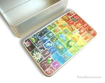 Rainbow Storage Gift Tin - Stationery, Travel Souvenirs etc