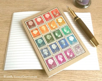 Vintage Netherlands Rainbow, Stamp Album-style Travel Notebook