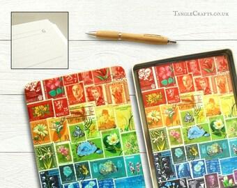A5 Rainbow Print Address Book & Storage Tin Gift Set