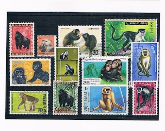 Monkeys & Great Apes on Postage Stamps - thematic selection