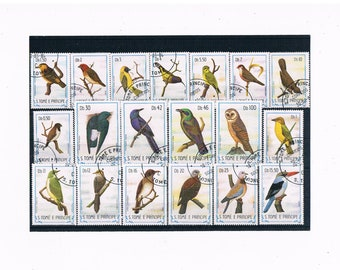 Birds on Postage Stamps - Sao Tome & Principe, 1983