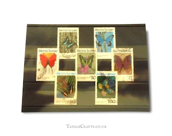 Sierra Leone butterflies, used stamps - mixed selection from 1987-1991 issues