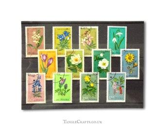 Endangered Flowers on postage stamps - full set, Poland 1962