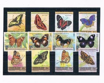 Butterfly Postage Stamps - Kenya 1980s