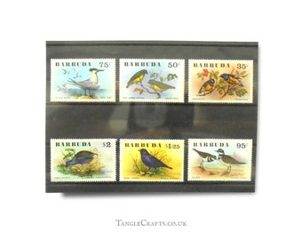 Birds on postage stamps, full set - Barbuda, 1976