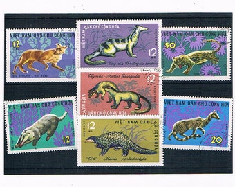 1960S Animal Postage Stamps from Vietnam