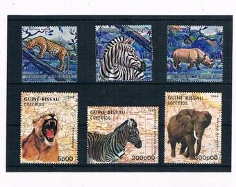 Wild Animal Postage Stamps - part sets, Burundi 1971, Guinea-Bissau 1988