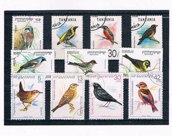 Garden Bird Stamps from Bulgaria 1987, Cambodia 1994 & Tanzania 1992