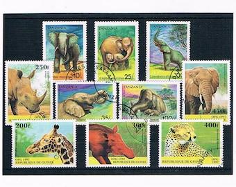 Wildlife Postage Stamps - Tanzania & Guinea, 1990s