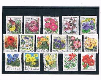 Garden Flower, Wildflower Stamps from Sweden