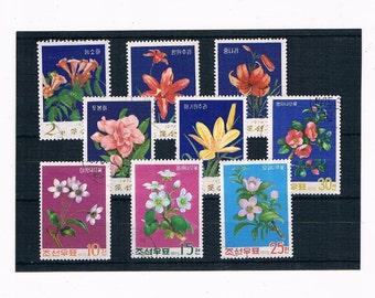 Decorative Flower Postage Stamps - part sets 1974 & 1975