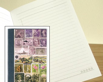 Heather Hills - Printed Stamp Art Notebook - optional matching card & address book