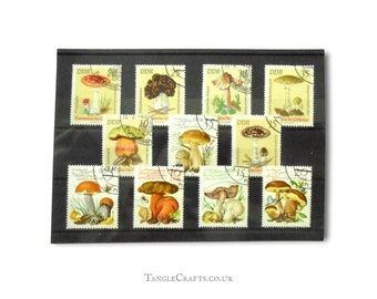 Fungi - European Toadstools & Mushrooms part sets - Germany DDR, 1974, 1980, mixed