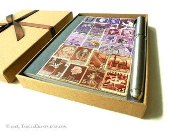 Lavender-Cocoa Address & Birthday Book - add Gift Box or Storage Tin