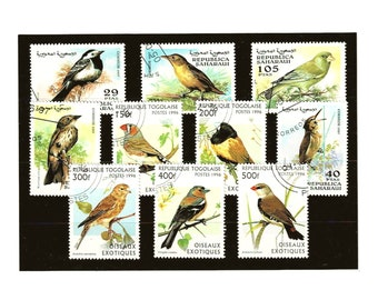 Garden Bird Stamps - part sets, Togo 1996, Sahrawi Republic 1997