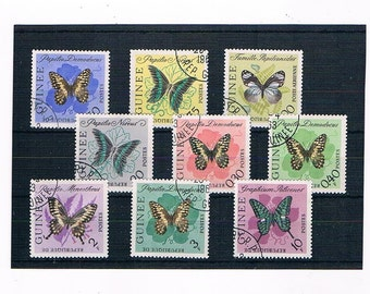 Butterfly Postage Stamps - Part Set, Guinea 1963