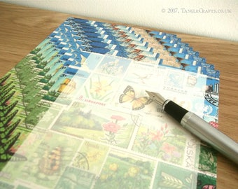 Happy Valley Writing Paper Set • Summer Landscape Stamp Art Letter Set