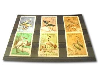 Water Birds on Oversized Postage Stamps - Vietnam 1983