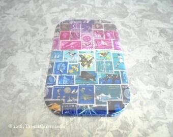 Midnight Sea Fridge Magnet • Stamp Art Philately Gift