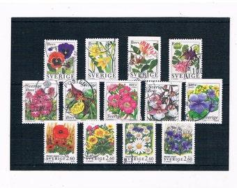 Garden Flower, Wildflower Stamps from Sweden, circa 1990s