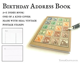 Australia wildlife address book, real vintage stamp cover