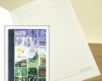 Parachute Landing Notebook - Printed Pocket Postage Stamp Journal