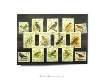 Malawi Birds used stamp selection - mixed part sets circa 1968 & 1988