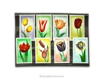 Oversized Tulip Flower Postage Stamps - Complete set Albania, 1971