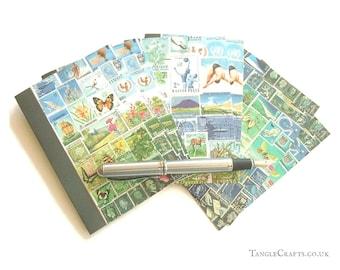 Blue Skies Postage Stamp Notecard Set • Blank Inside Cards