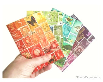 Tonal Collection - Mixed Set of Colourful Stamp Art Note Cards