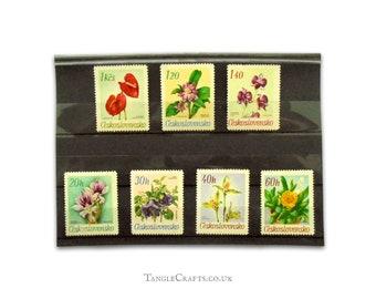 Botanical Garden Flowers - Full set 1967 Czechoslovakia postage stamps