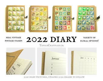 Floral Diary 2022, A6 Line a Day Pocket Planner