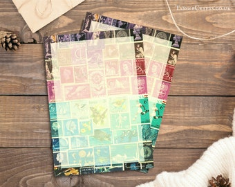 Midnight Sea - Writing Paper Set • Postage Stamp Letter Writing Set