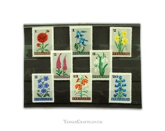 Retro Flowers postage stamps - Full set Bulgaria, 1966