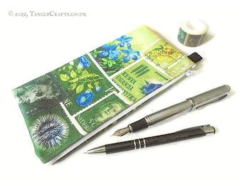 Spring Greens Pencil Case, Zipper Pouch