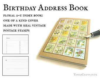 Uganda flowers address book or garden planner notebook