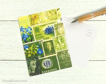Spring Greens, Set of 8 Postcards