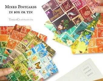 Mixed Postcard Gift Set in box or tin - Landscape & Tonal mix